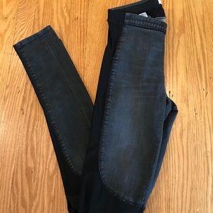 Helmut Lang jean denim 26 stretch black grey